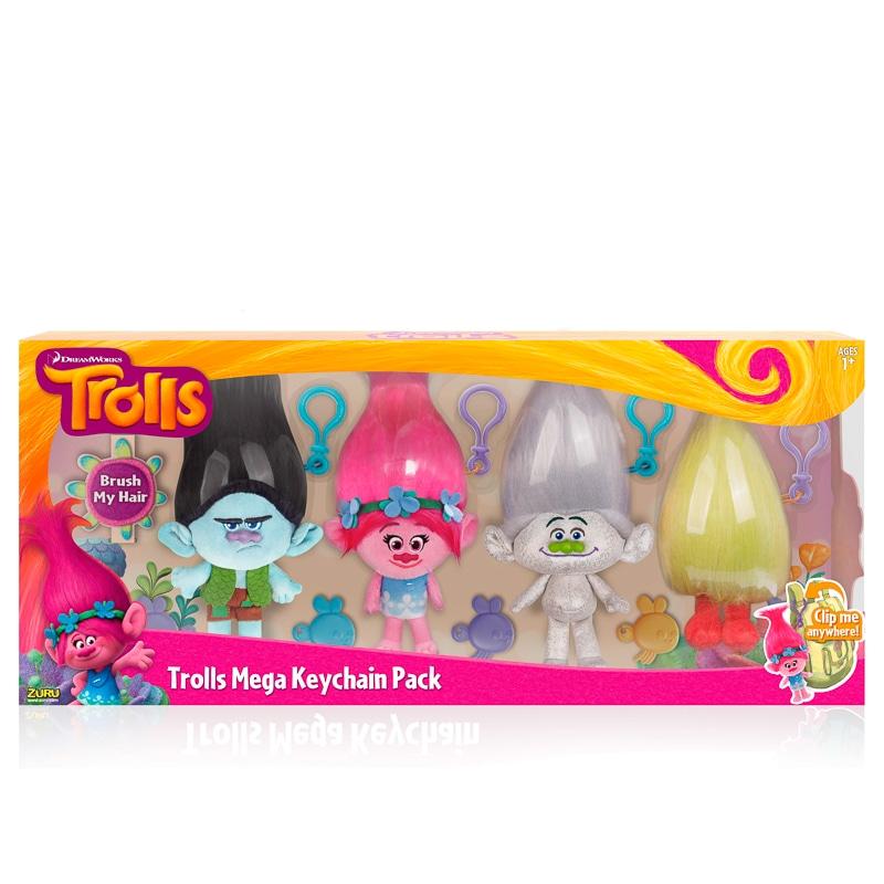 Trolls Mega Keychain Figures 4pk Kids Toys Amp Games B Amp M
