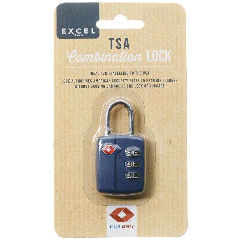 b4f31e20acab TSA Luggage Combination Lock - Navy