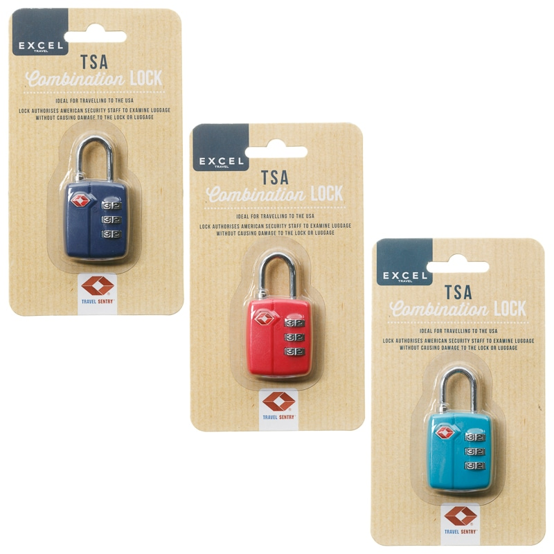 TSA Luggage Combination Lock - Navy