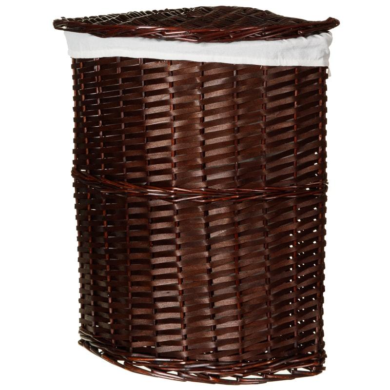 corner wicker laundry basket chocolate laundry hampers. Black Bedroom Furniture Sets. Home Design Ideas