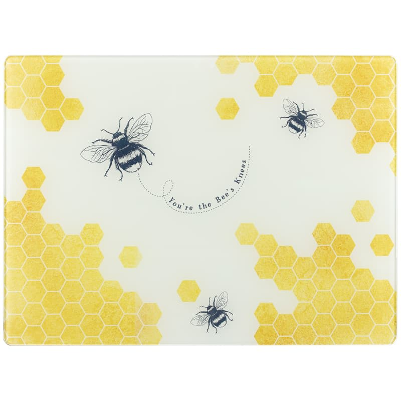 Glass Chopping Board - Bee's Knees