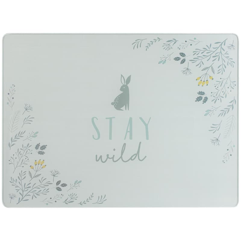 Glass Chopping Board - Woodland