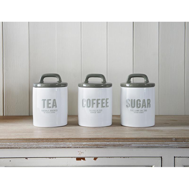 Retro Tea Coffee Sugar Set 3pc Multicolour Kitchen