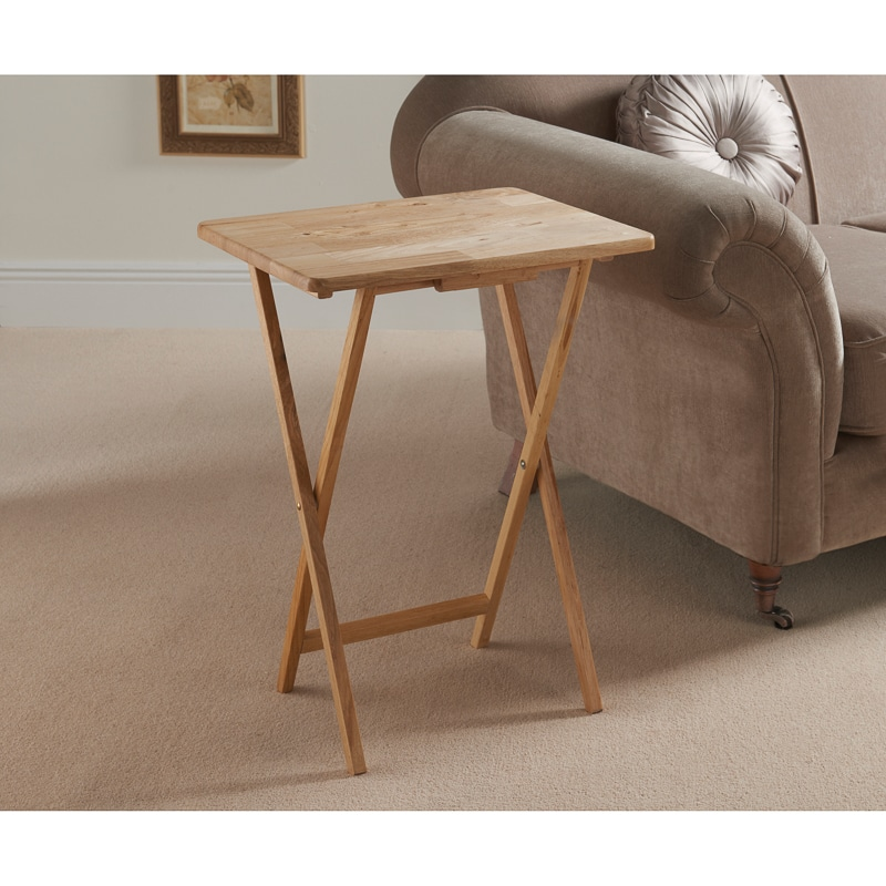 Rubberwood Folding Table Furniture Home B M