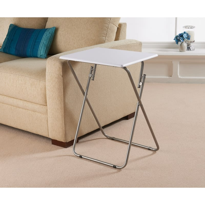 Superieur 320130 Folding Side Table White