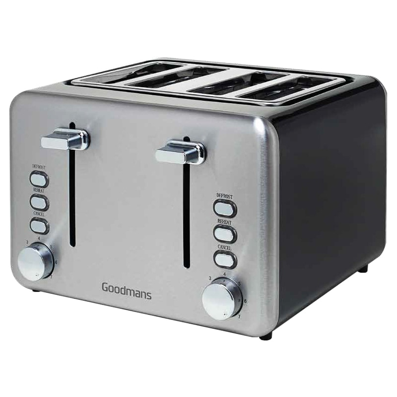 Goodmans 4 Slice Toaster Black Home Kitchen B Amp M
