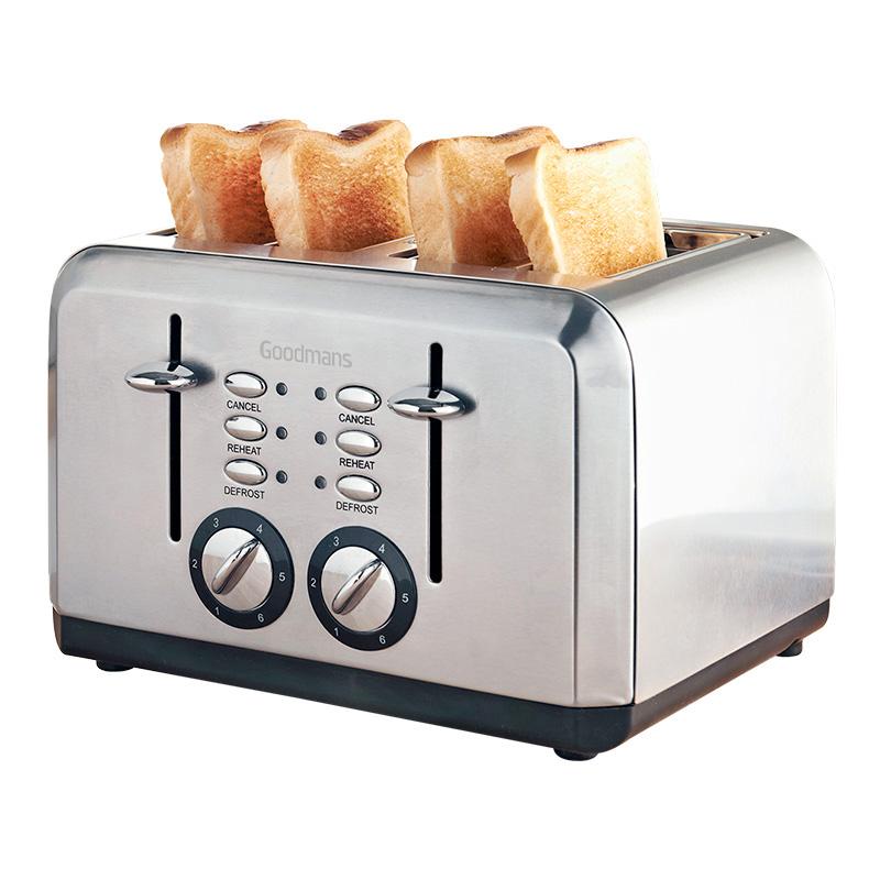 Goodmans 4 Slice Toaster Cream Home Kitchen B Amp M