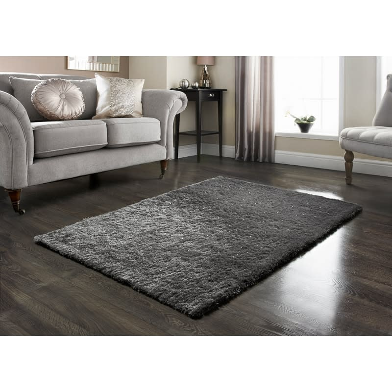 Home Furniture Rugs: Radiance Sparkle Rug 60 X 110cm
