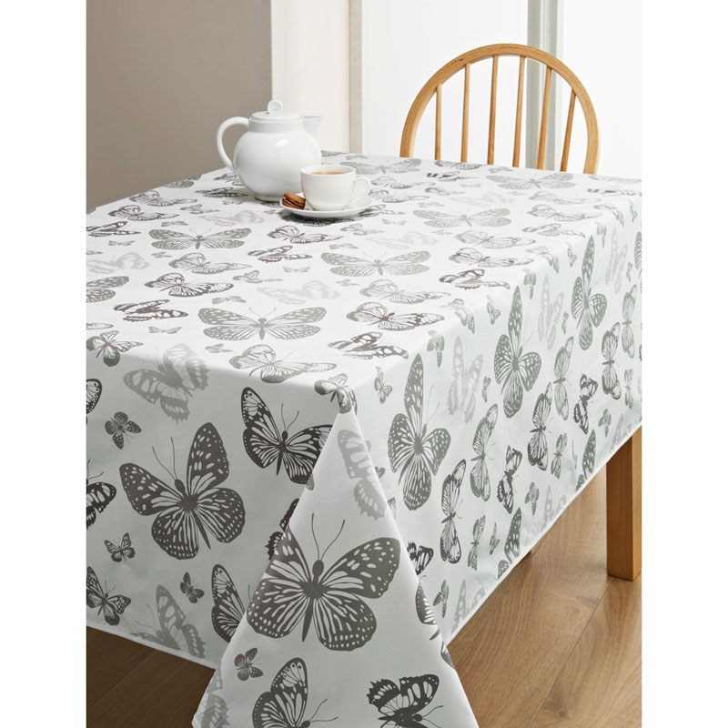 Pvc Wipe Clean Tablecloth Butterfly Kitchen B Amp M