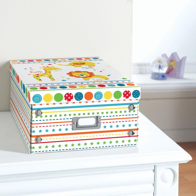 Kids Paper Storage Box Large Bright Stationery B M