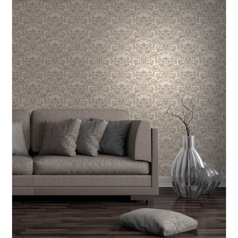 Click On Image To Enlarge 320287 Wentworth Damask Cream Gold1
