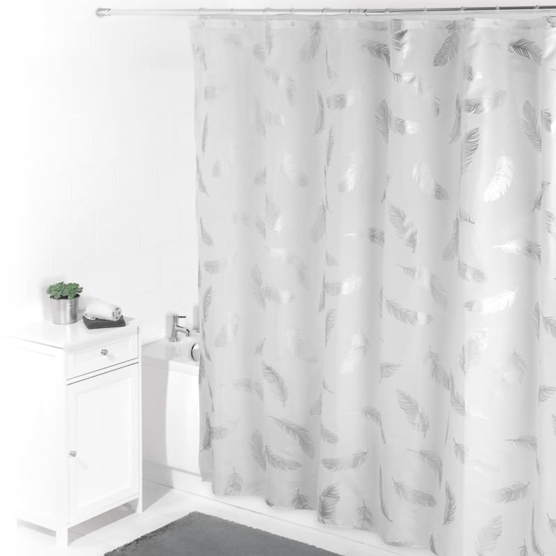Beldray Printed Shower Curtain Feathers Bathroom B Amp M