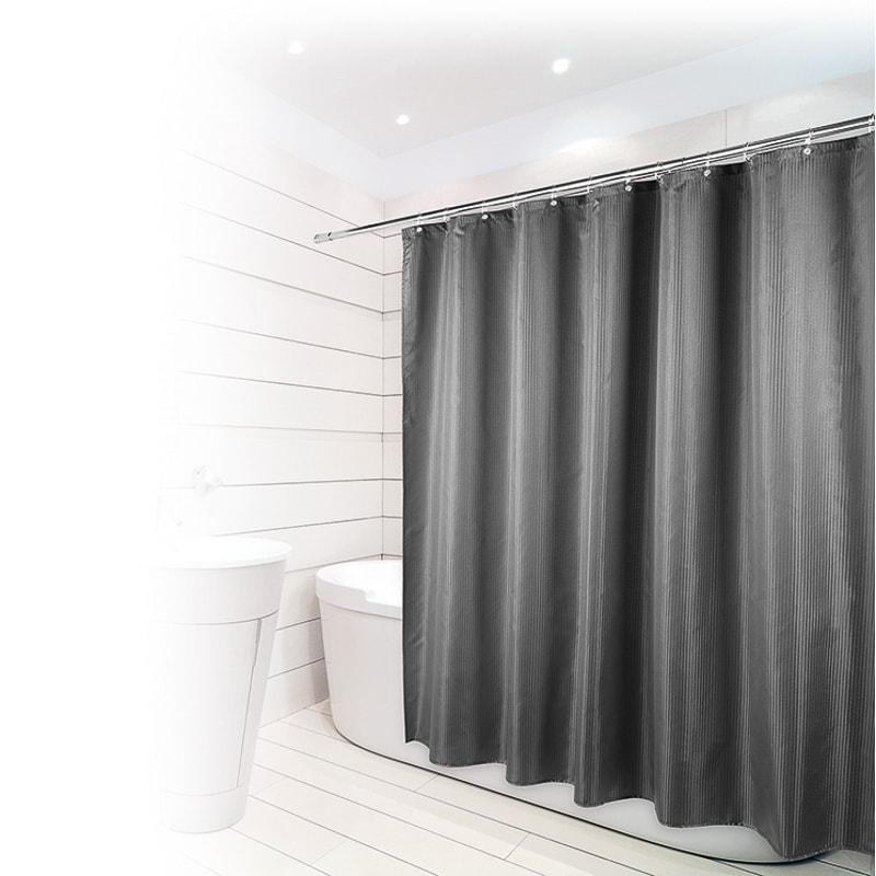 Beldray Jacquard Stripe Shower Curtain   Bathroom Accessories - B&M