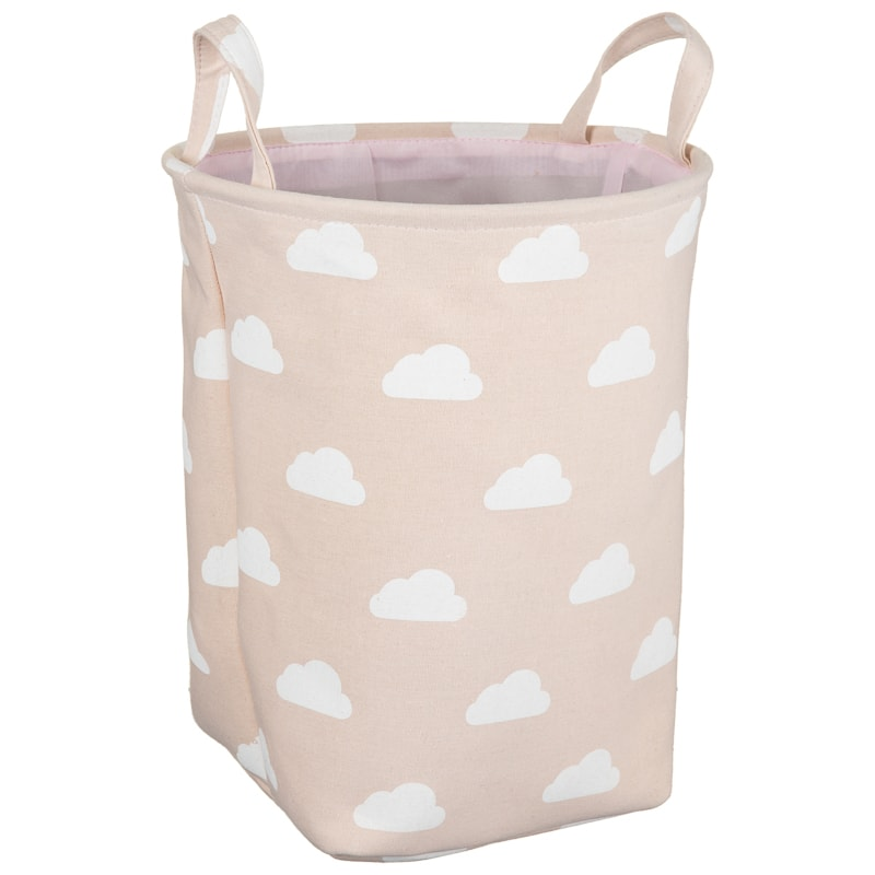 Kids Canvas Laundry Hamper - Pink Cloud