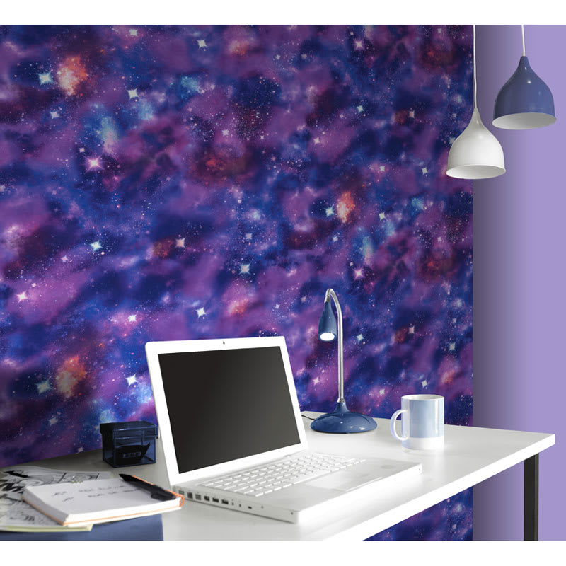 Rasch Nebula Wallpaper Orange Decorating Diy B Amp M