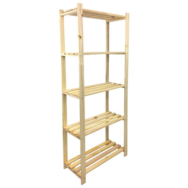 new product bcda9 634ab Lovon 5-Tier Pine Shelf