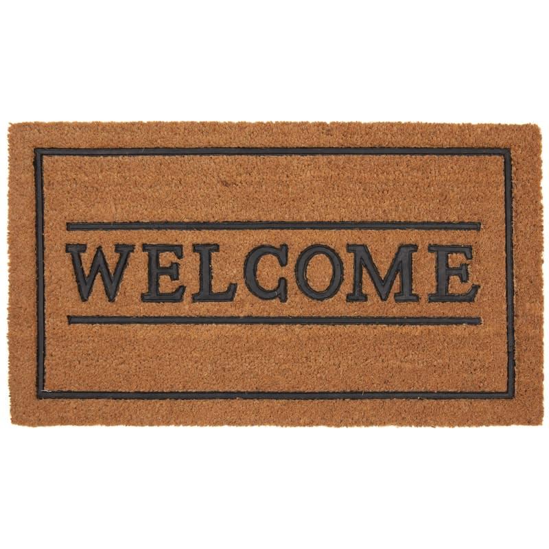 Rubber & Coir Doormat - Welcome