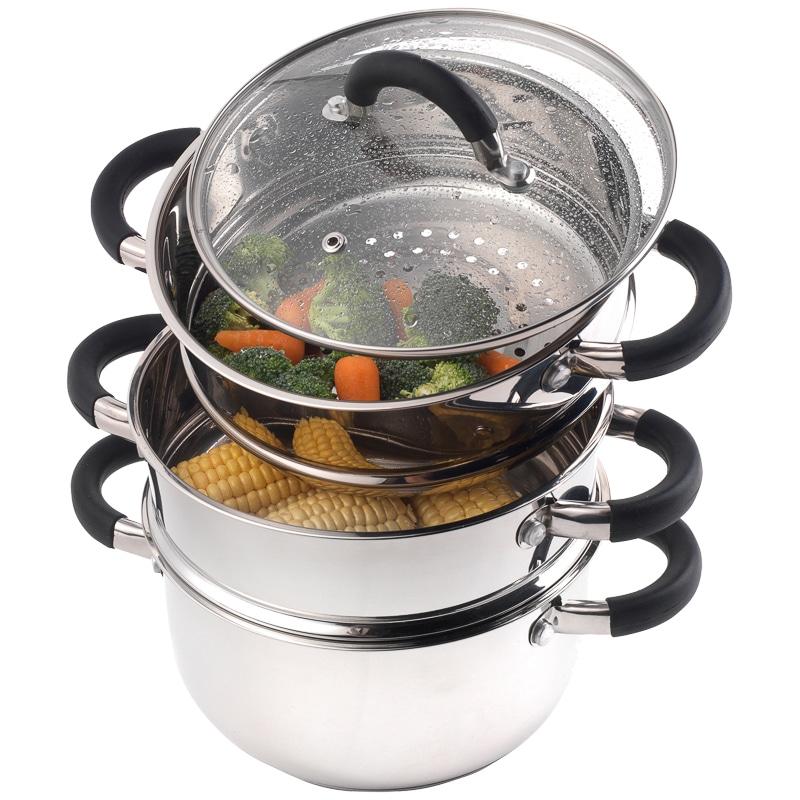 Kitchen Food Steamer ~ Russell hobbs tier food steamer cm cookware kitchen