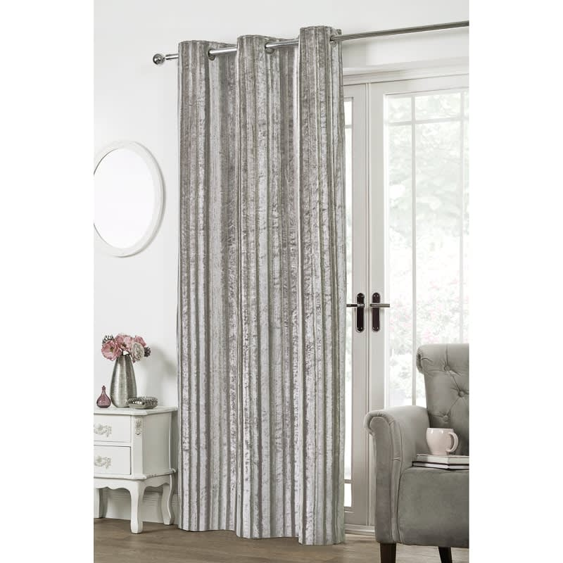 320651 BnM KENDALL SILVER Curtain Panel Small
