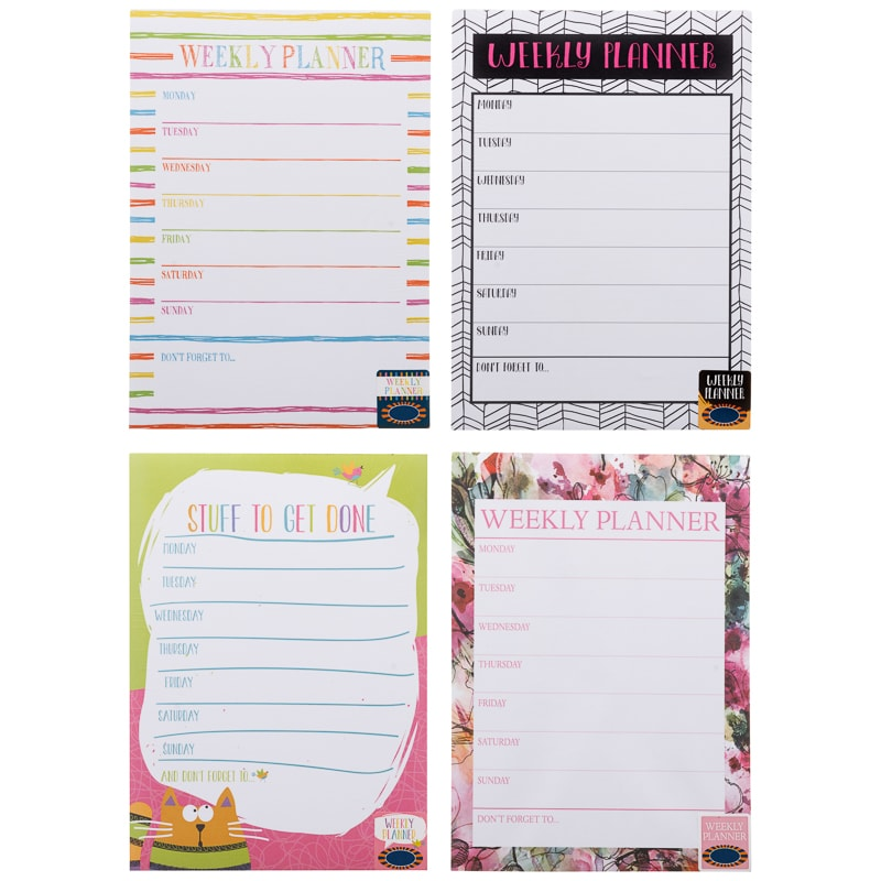 Fashion Weekly Planner Kids Stationery B Amp M Stores