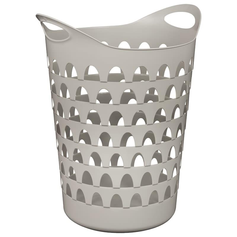 Tall Flexi Laundry Basket - Grey | Laundry - B&M
