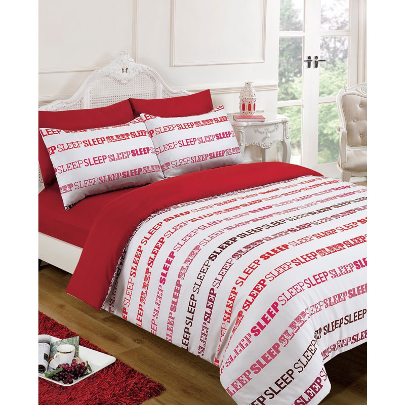 Sleep text complete bed set single bedding b m stores - Complete bedroom sets with mattress ...