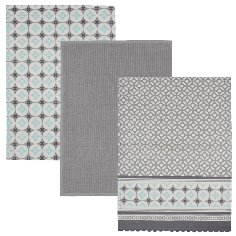 Karina Bailey Modern Tea Towels 3pk - Geo