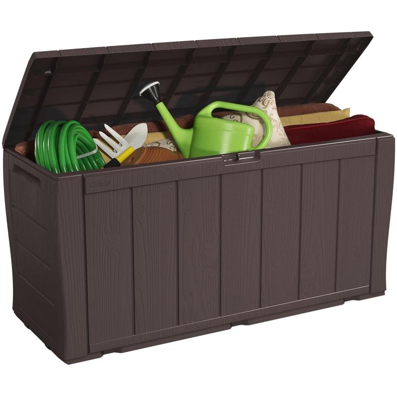 keter sherwood storage chest 270l garden storage bampm