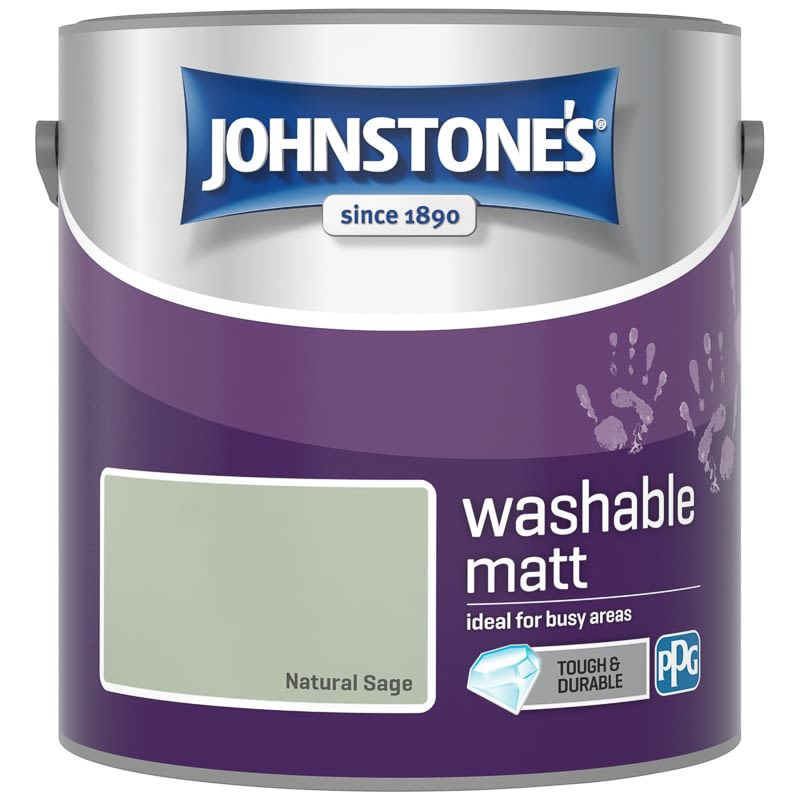Johnstone's Washable Matt Paint - Natural Sage 2.5L