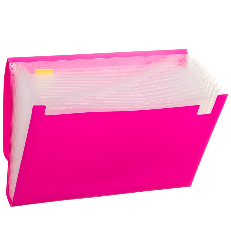 A4 Expanding File 13 Pockets Pink Filing B Amp M