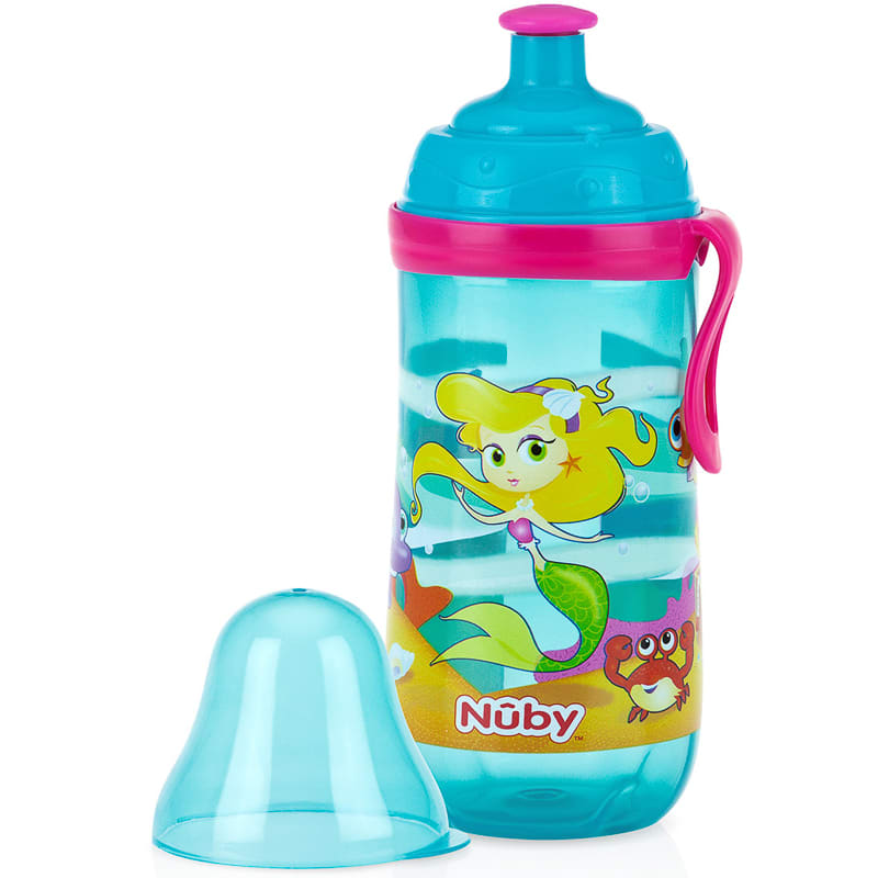 New Nuby Pop-Up Sipper 330ml BPA Free And Suitable For Children Aged 18 Months