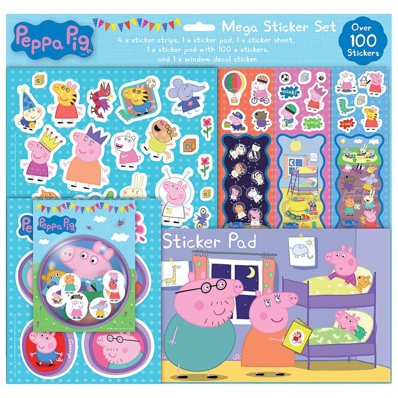 Peppa Pig Mega Sticker Set Toys Kids Crafts B Amp M