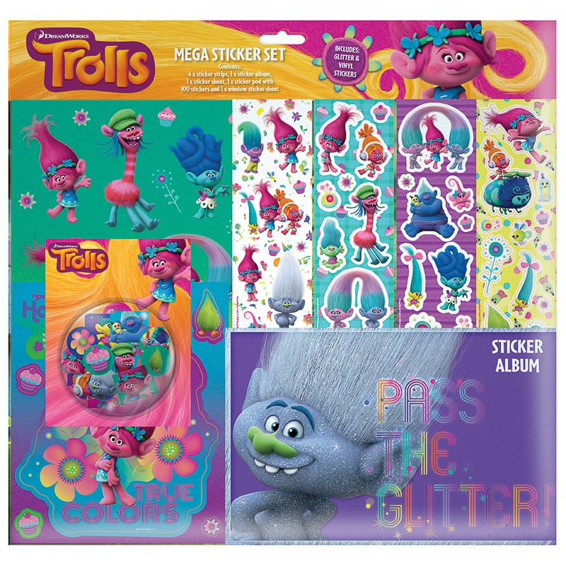 Trolls Mega Sticker Album Set Toys Kids Crafts B Amp M