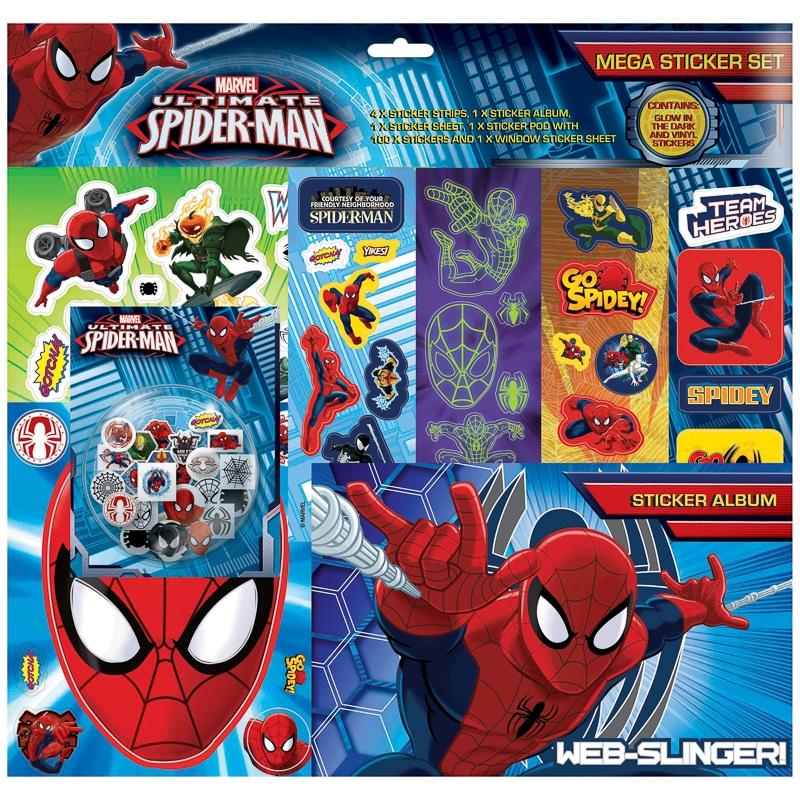 Spider Man Mega Sticker Album Set Toys Kids Crafts B Amp M