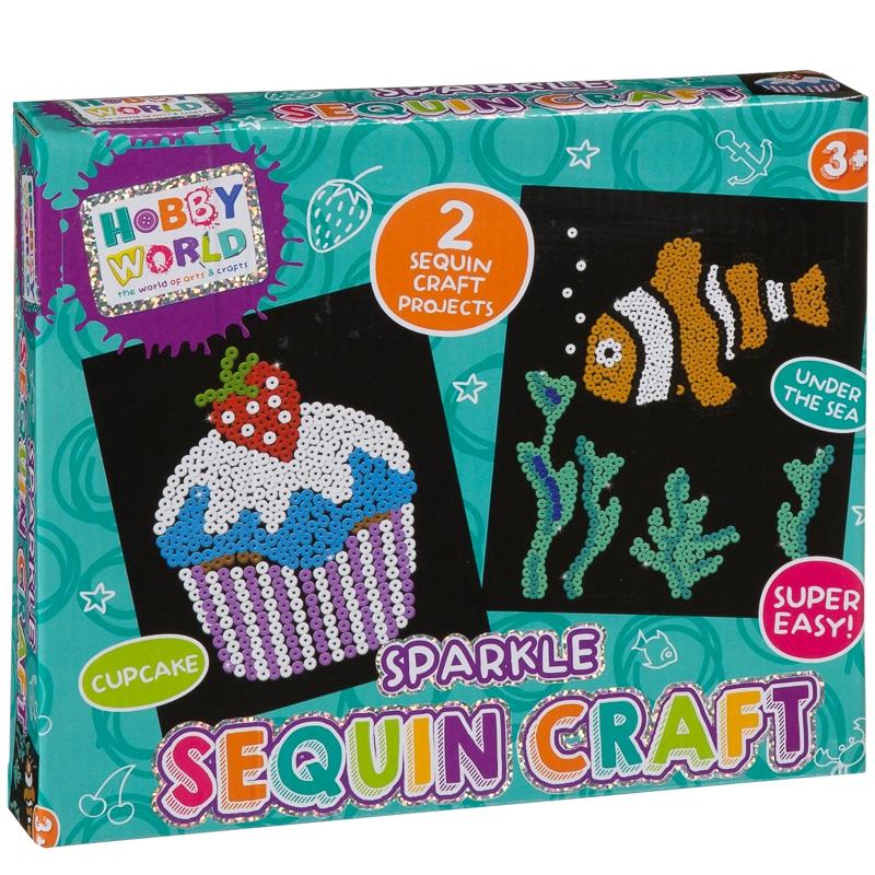 hobby world sparkle sequin craft set kids crafts b m. Black Bedroom Furniture Sets. Home Design Ideas