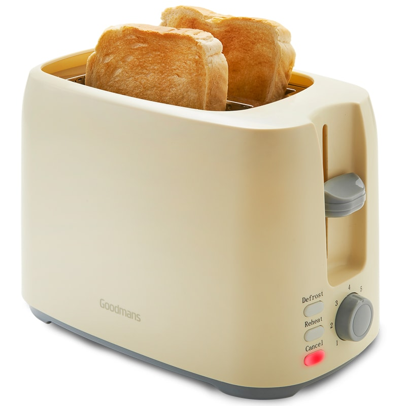 Goodmans 2 Slice Toaster - White | Kitchen Appliances - B&M