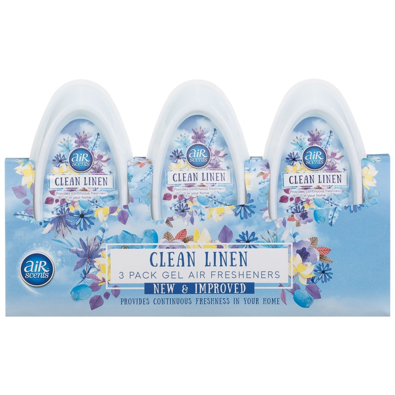 AirScents Gel Air Freshener 3pk - Clean Linen