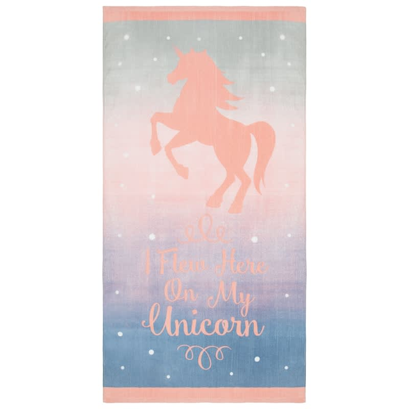 Printed Beach Towel 75 x 150cm - Unicorn