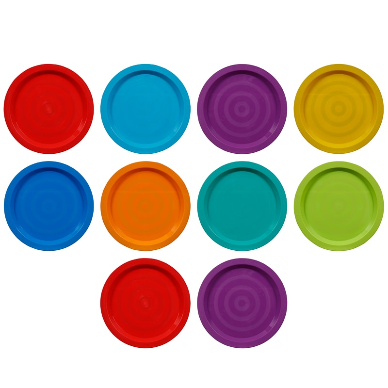 321669-10-pack-kids-plastic-plates-main  sc 1 st  Bu0026M & Kids Plastic Plates 10pk | Picnic - Bu0026M