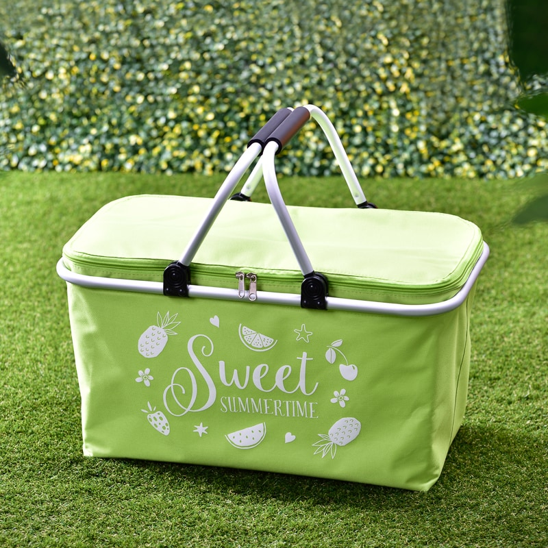 Foldable Picnic Basket Green Picnic B Amp M