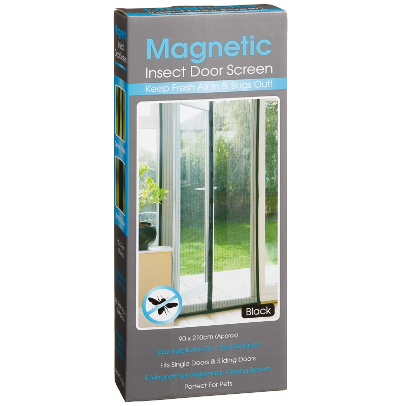 Fly door screen 1pc durable magnetic mesh screen door for Insect door screen