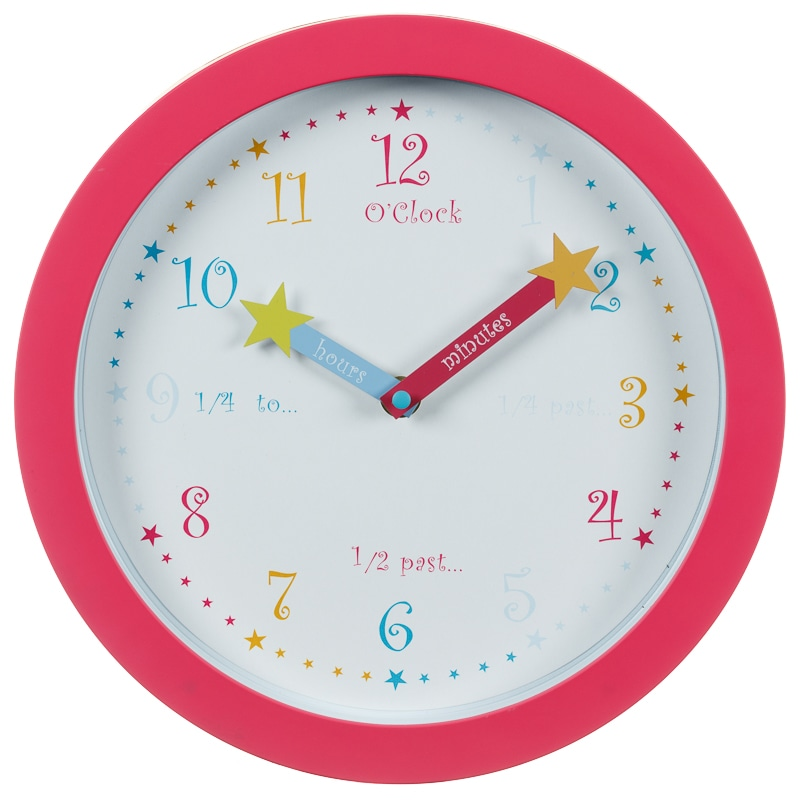 Learn to Tell the Time Clock - Pink