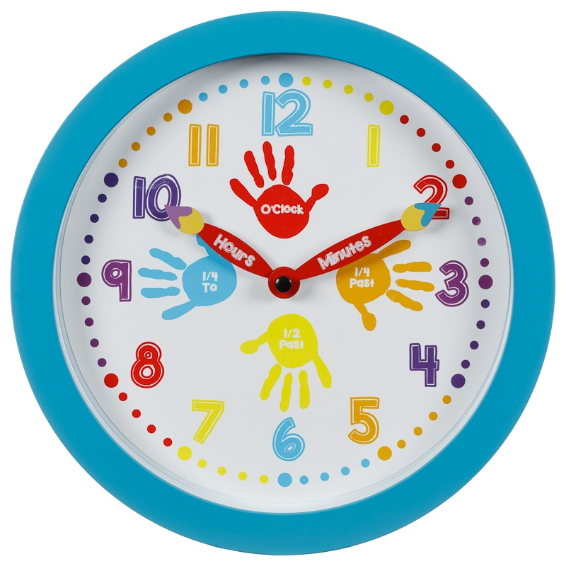 learn to tell the time clock   blue home decor   b amp m stores