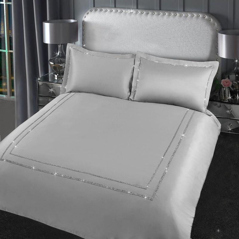 Karina Bailey Isla Diamante Double Duvet Set Bedding B Amp M