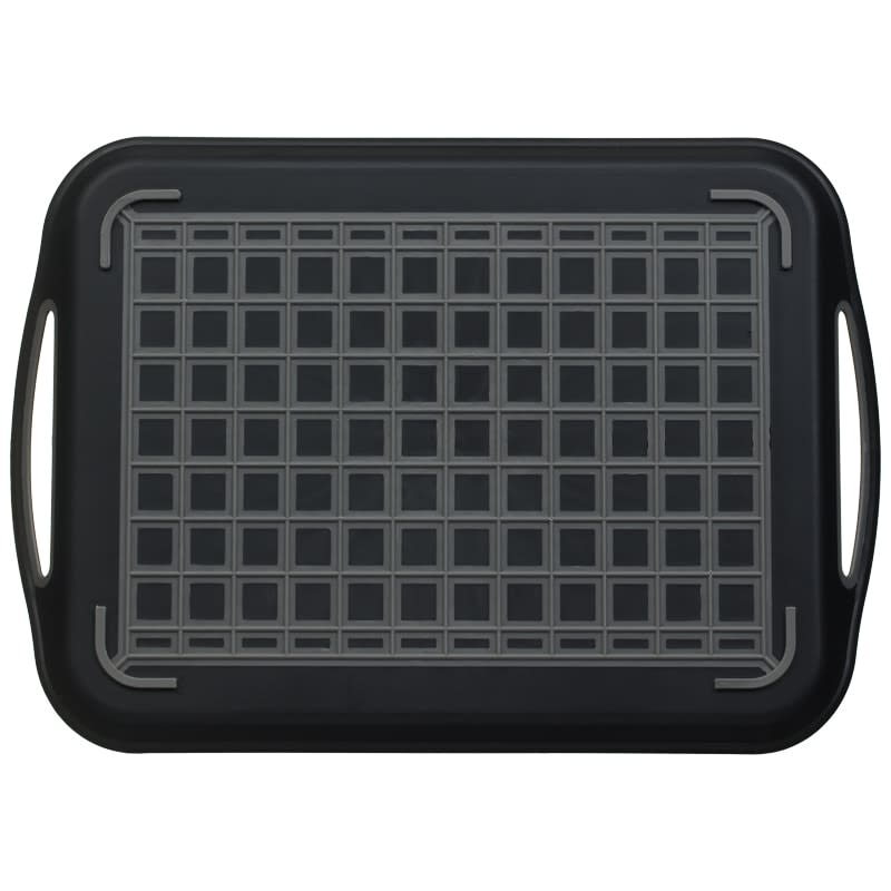 Anti-Slip Serving Tray - Black