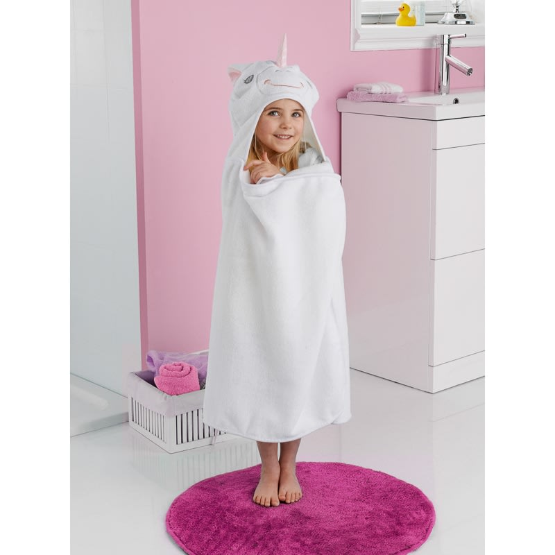Christmas Bathroom Accessories Uk: Kids Hooded Bath Towel - Unicorn