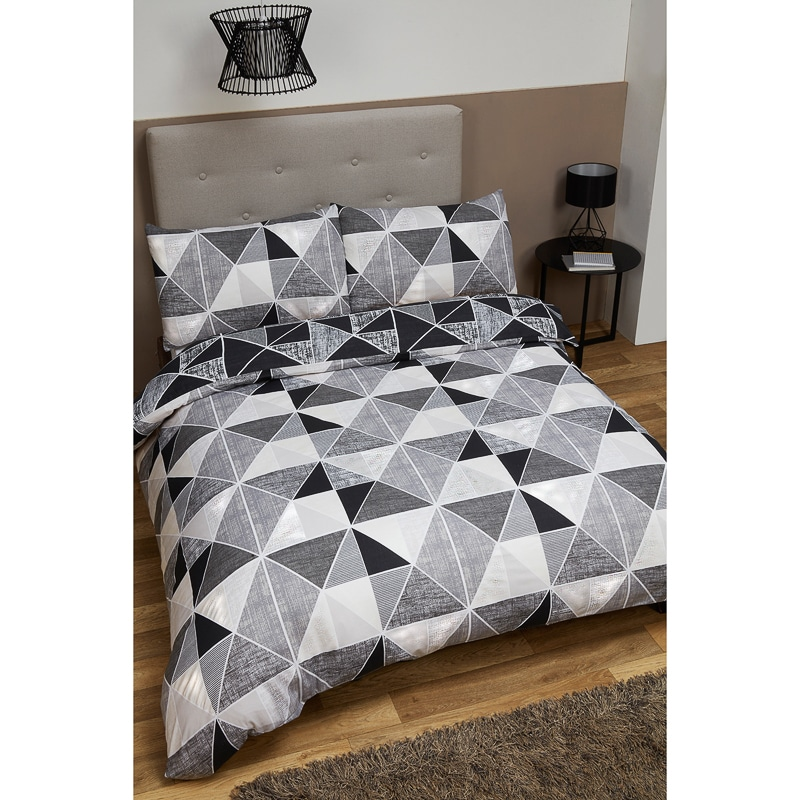 Geometric King Size Duvet Set Bedding Duvet Sets B Amp M