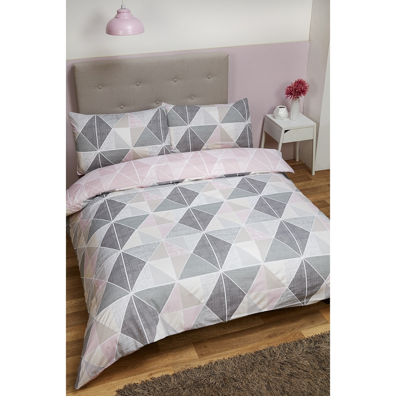 Geometric Double Duvet Set | Bedding | Duvet Sets - B&M