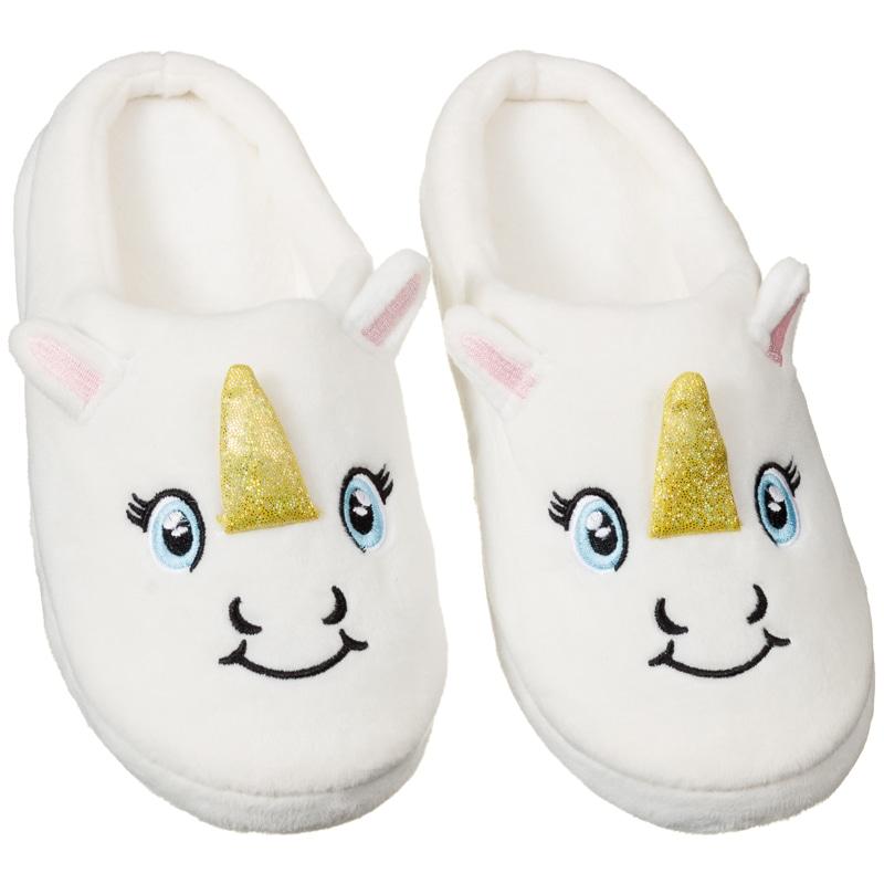 ladies unicorn slippers footwear women 39 s nightwear b m. Black Bedroom Furniture Sets. Home Design Ideas