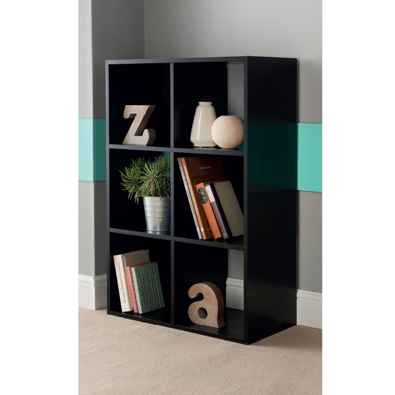 Great 322319  6 Cube Shelving Unit Black